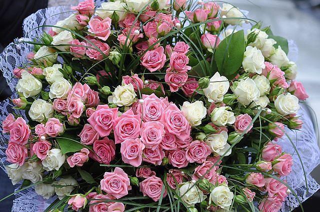 Открытка большой букет цветов в