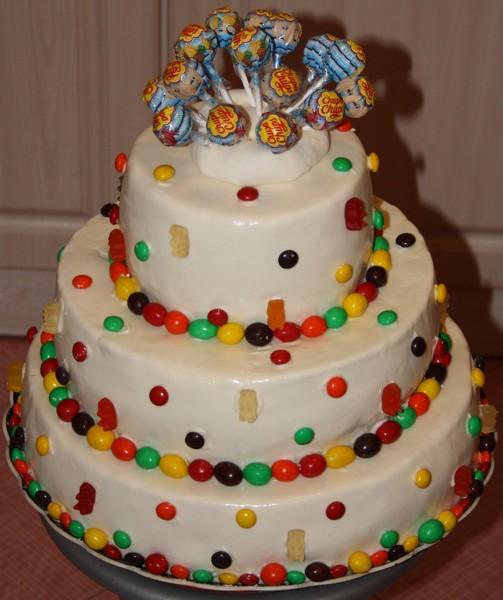 Праздничный торт на день рождения своими руками