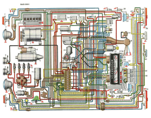 подробные электросхемы ваз 2101