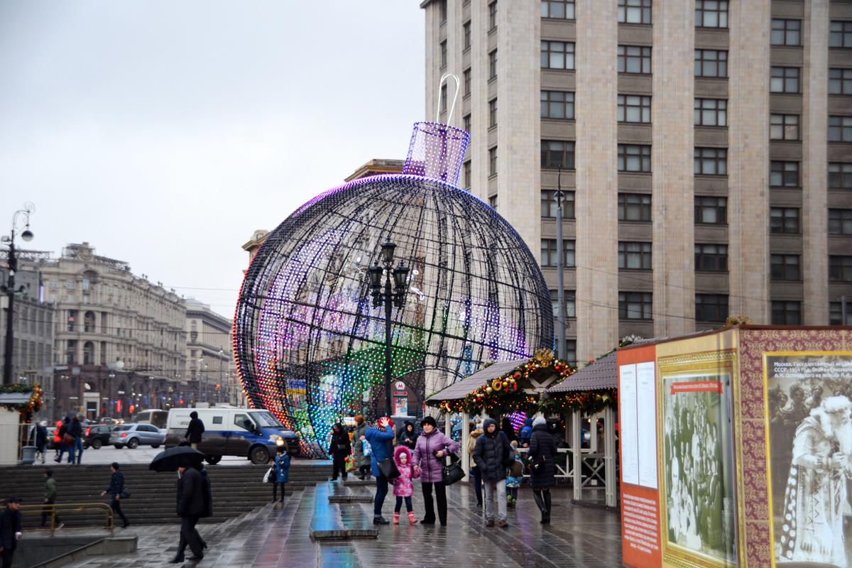 2. Елочный шар - земной шар.